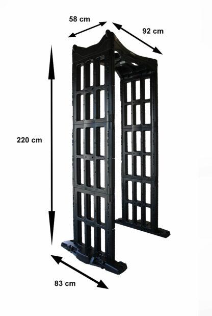 mesures du portique de détection